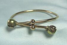 """Bracelet 2"""" inside diameter Gold Plate Victorian Bypass"""