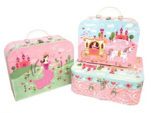 Princess Punch Studio Nesting Boxes: Princess Fairy tale Castle, Pink Suit Case
