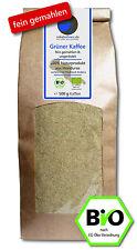 Grüner Kaffee Bio - FEIN GEMAHLEN 500g (veganer Rohkaffee z. B. für Smoothies)