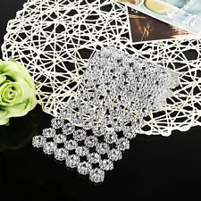 Electroplating Plastic Wedding Flower Diamond Mesh Wrap Roll Sparkle Rhinestone
