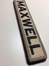 "Hook And Loop  5"" X 1"" Embroidered Custom NamePatch Biker Security Morale MOD"