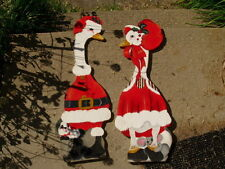 "wooden christmas Painted Male Female goose 33"" Wall Decorations Signed J Ransom"