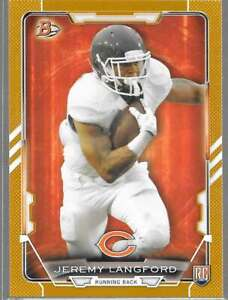 2015 Bowman Football Gold Paper Parallel /399 #35 Jeremy Langford RC - Bears