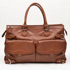 Goldpfeil Germany Handtasche Purse Tan Sattelbraun Saddle Brown Leder Leather