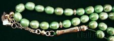 Prayer Beads Komboloi Tesbih Soft Green Pearls Sterling Silver