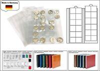 1 LOOK 1-7392-5 Münzhüllen Münzblätter PREMIUM 24 Fächer Für Münzen bis 34 mm