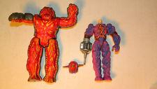 Vtg Inhumanoids Auger Magnokor Action Figure Complete w/ Helmet & Weapon Hasbro