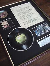 "THE BEATLES SOMETHING 7"" RECORD SINGLE + ORIGINAL HANDWRITTEN LYRICS MONTAGE"
