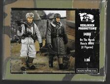 Verlinden Wwii German Soldiers, On the March Russia, Resin Figs. 1/35 1484 St