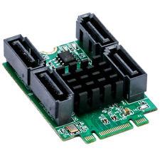 B+M key M.2 To 4 Port SATA 3.0 Card NGFF to Quad 7Pin SATA 6GB Port Multiplier