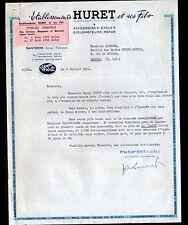 """NANTERRE (92) ACCESSOIRES VELOS MOTOS CYCLOMOTEURS """"HURET & Fils"""" en 1956"""