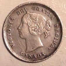 1888 Canada Victoria 5 Cents