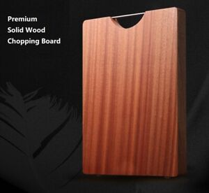 Premium Solid Sapele Wood Professional Large Chopping Serving Board 40x28x2.5cm