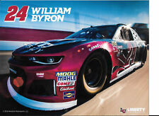 "2018 WILLIAM BYRON ""LIBERTY 3RD VERSION"" #24 NASCAR MONSTER ENERGY POSTCARD"
