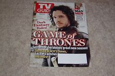GAME OF THRONES * KIT HARINGTON * MAD MEN PHOTOS April 7 2014 TV GUIDE MAGAZINE