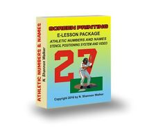 Screen Printing - Athletic Numbering E-Lessons and Video Package