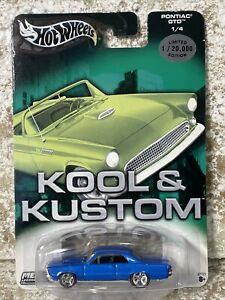 2003 Hot Wheels kool & kustoms PONTIAC GTO 1/4 BLUE SUPER NICE 1/20000