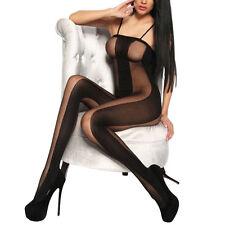 donna lucido Calze ALTO burlesque collant lucido collant body calze donna