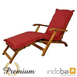 Deck Chair Polsterauflage Liegenauflage Sitzauflage Auflage - extra dick - Rot