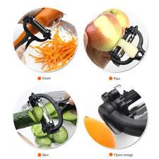 Multifunction Rotary Potato Peeler Vegetable Fruit Cutter Kitchen Tool 3 Bl