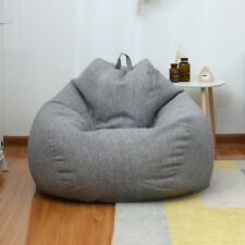 Adults Kids Children Large Bean Bag Chair Sofa Couch Cover Indoor Lazy Lounger