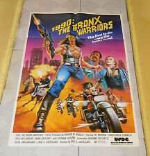 original 1990: THE BRONX WARRIORS one-sheet poster Fred Williamson Vic Morrow