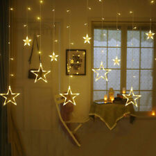 3M Twinkling Stars Christmas LED Curtain String Fairy Light Party Decoration UK