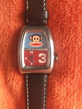 Paul Frank Watch Julius the Monkey with Original Black Leather Band