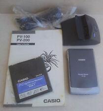 Casio Pocket Viewer pv-100 mehrsprachiger mit manueller Wiege Software Made in Japan