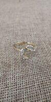 Romanza 14K Plumb Yellow Gold and Diamond Ring. Size 6.25 (lot#ebr)