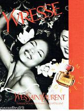 PUBLICITE ADVERTISING 026  1996  Yves Saint-Laurent parfum Yvresse