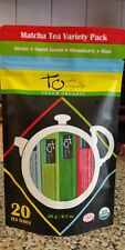 Touch Organic Matcha Tea Variety Pack 20 Tubes Green Sweet Strawberry Mint