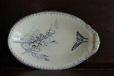 joli ravier ancien - décor branchages et papillon - TBE -déco cuisine collection