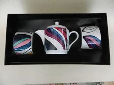 Paperchase Porcelain 2 Teacups & Saucers & Teapot Set.