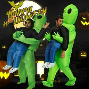 Adult/Kid Alien Abduction Halloween Inflatable Costume Funny Dressing Outfit