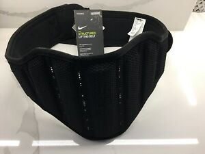 Nike Structured Lifting Training Weight Belt 2.0 Black/Volt Size XL NEL02023 New