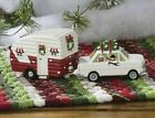 Christmas Vacation Salt and Pepper Shakers Vintage Style Car / Trailer 2 pcs