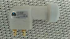 2 Teilnehmer Twin LNB 0,1dB DVB-S2 Full HDTV  vergoldete F-Stecker  Wetterschutz