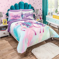 PEGASUS Comforter Bedding Decoration Sheet Girls Horse Purple Teens TWIN 5 PCS