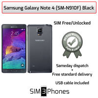 Samsung Galaxy Note 4 32GB (SM-N910F) Black Unlocked - Good Condition/Grade B
