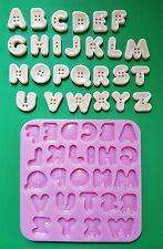 PULSANTE Alfabeto Set Stampo in silicone per topper per torta, Argilla ecc.