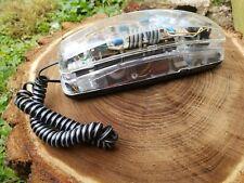 Vintage Lenoxx Sound Transparent Tech Phone/Model HAC PH 1400/Clear Phone