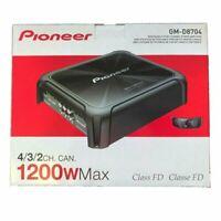 NEW Pioneer GM-D8704 1200 Watt 4/3/2-Channel Class D Amplifier With Bass Knob