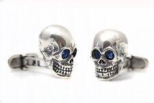 Sterling Silver Skull cufflinks NEW rrp £155.00