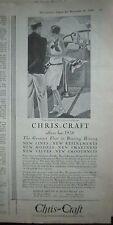 1929 Vintage Bridge Deck 38 Foot Chris-Craft Cruiser  Boat Ad