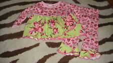 BOUTIQUE BABY LULU 6M 6 MONTHS FLORAL BUTTERFLY OUTFIT