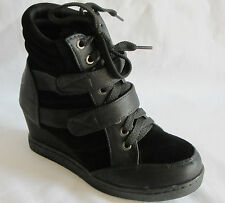 Girls Wedge Sneaker High Top  (Colima03) Youth Pageant Dress Shoes Laces