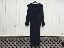 ANNETTE GORTZ black duster sweater knit jacket trench knitwear goth avant garde