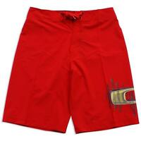 Oakley Frequency Red Line Size 30 S Mens Swim Surf Beach Boardies Board Shorts