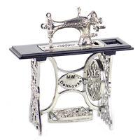 1:12 Vintage Dollhouse Sewing Machine Miniature Furniture Table Wood Metal Decor